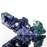 "1.5"" Mirror AZURITE Terminated Dazzling Crystals +Malachite Milpillas for sale"