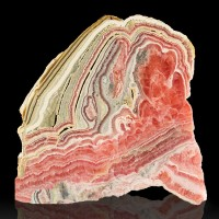 "4.1"" 177g Bull's Eye RedPnkWhite RHODOCHROSITE Polished Slice Argentina for sale"