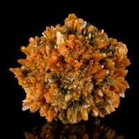 "3.4"" Ball of Gemmy Orange CREEDITE Radiating Terminated Crystals Mexico for sale"