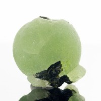 "1.8"" Grass Green PREHNITE BALL w/ Blackish Green EPIDOTE Crystals Mali for sale"
