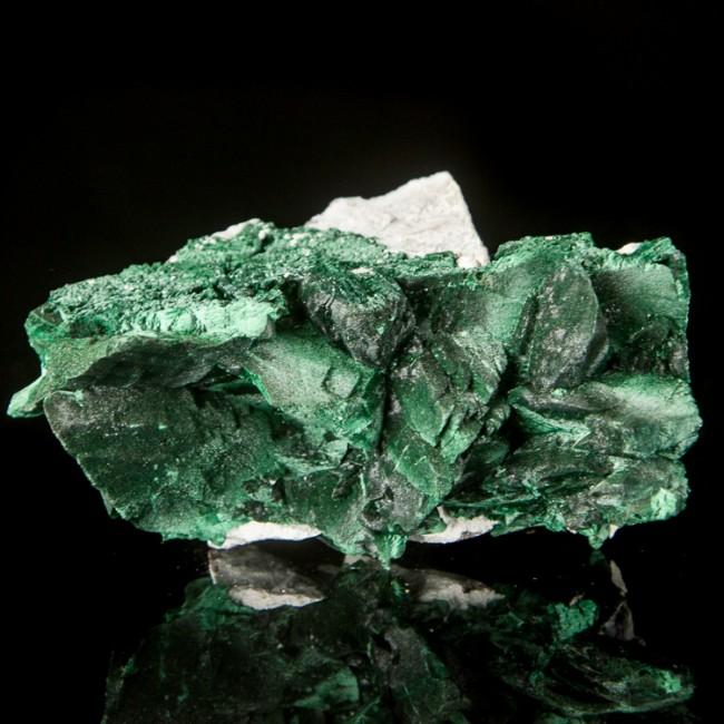 """3.7"""" Brilliant Green MALACHITE PSEUDO of AZURITE Crystals Milpillas MEX for sale"""