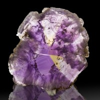 "2.8"" 380ct Gem Rough Polished AMETRINE SLICE Citrine + Amethyst Bolivia for sale"