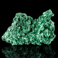 """5.1"""" Flashy Iridescent Electric Green MALACHITE Needle Crystals Congo for sale"""