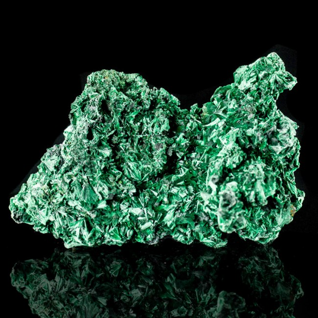 "5.1"" Flashy Iridescent Electric Green MALACHITE Needle Crystals Congo for sale"