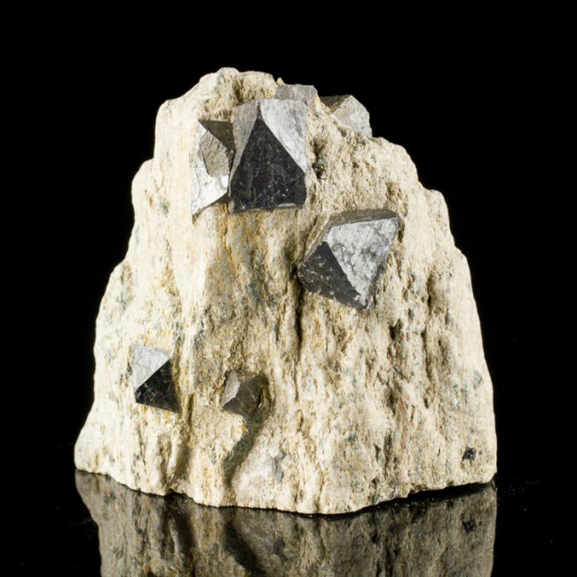 "2.9"" Extra Sharp MAGNETITE CRYSTALS to .9"" in Tan/Gray Matrix Australia for sale"