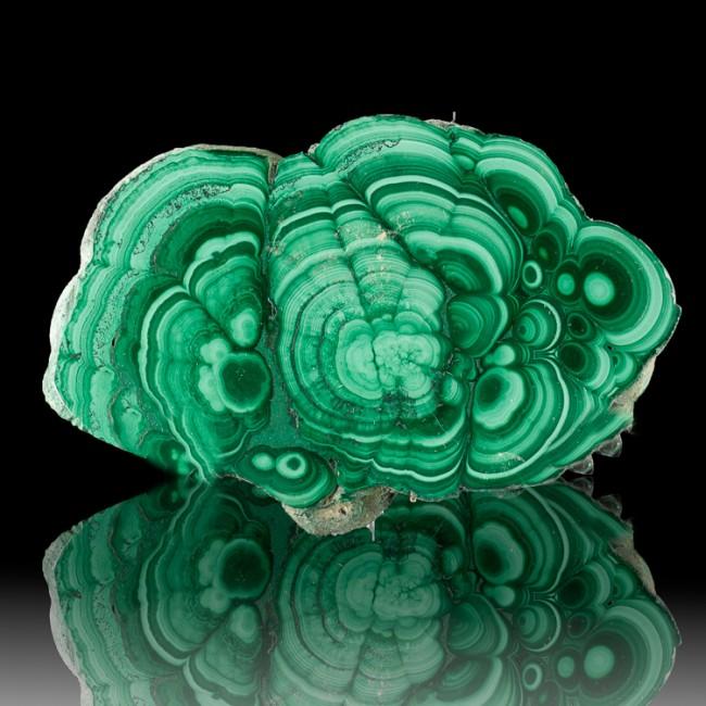 "4.0"" Colorful Polished MALACHITE SLICE Light&Dark Green BullsEyes Congo for sale"