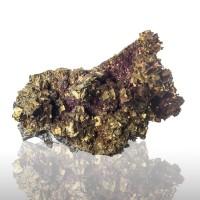 "2.6"" Delightful Iridescent Magenta&Gold CHALCOPYRITE Crystals Missouri for sale"