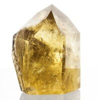 "4.5"" Butter Yellow Skeletal CITRINE CRYSTAL Polished w/Rainbows Brazil for sale"