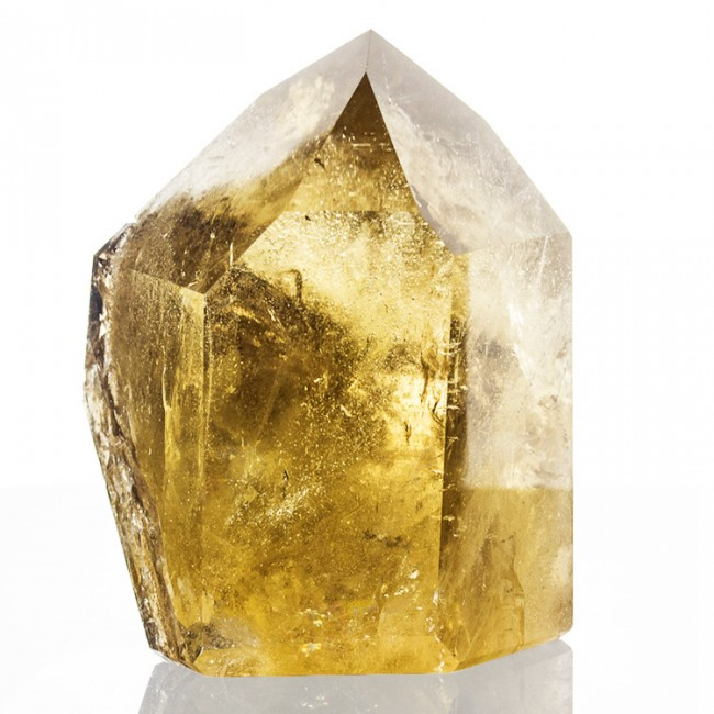 """4.5"""" Butter Yellow Skeletal CITRINE CRYSTAL Polished w/Rainbows Brazil for sale"""