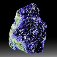 "2.5"" Rich Royal Blue AZURITE Sparkling Crystals in Vugs on Matrix China for sale"