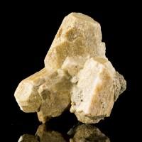 "2.4"" Tan MICROCLINE w-Black HORNBLENDE Crystals Titanite Hill Ontario for sale"