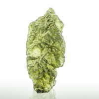"1.6"" 37ct Asparagus Green Gem MOLDAVITE w/Ridges & Grooves Czech Rep. for sale"