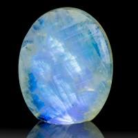 "1.4"" 80ct Iridescent Neon Blue RAINBOW MOONSTONE Polished Gem Cabachon for sale"