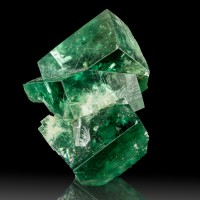 "1.5"" BlueGreen PenetratingTwin FLUORITE Sharp Cubic Crystals Rogerley M for sale"