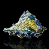 "3.6"" Metallic Blue Magenta Gold BISMUTH Sharp Hoppered Crystals England for sale"