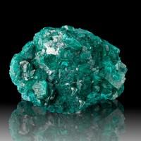 "2.9"" Flashy Dark Emerald Green DIOPTASE Sharp Brilliant Crystals Congo for sale"