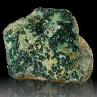 "4.6"" ATACAMITE Dark Crayon Green Crystals w/Brilliant Luster Australia for sale"