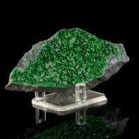 "4.4"" Brilliant Sparkling EmeraldGreen UVAROVITE Twinkly Crystals Russia for sale"
