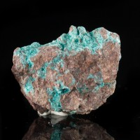 "1.1"" TurquoiseBlue AJOITE Micro Crystals on Matrix Type Locality Ajo AZ for sale"