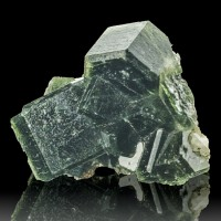 "1.7"" Lustrous Gemmy DarkGreen PHANTOM APATITE Crystals Sapo Mine Brazil for sale"