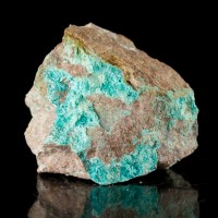"1.1"" Electric Blue AJOITE Micro Crystals on Matrix Type Locality Ajo AZ for sale"