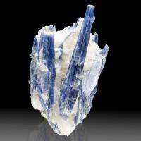 "7.7"" Sapphire Berry Blue KYANITE Lustrous Crystals to 6"" +Quartz Brazil for sale"