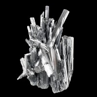 "4.4"" Bright Shiny Metallic STIBNITE CRYSTALS in Diverging Spray China for sale"