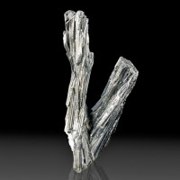 "3.9"" Bright Metallic Silver STIBNITE Terminated Crystal in Sprays China for sale"