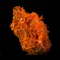 "2.2"" Sizzling Red Orange CROCOITE Terminated Square Crystals Tasmania for sale"