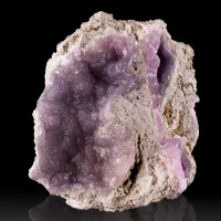"3.8"" Shiny PurpleLavender SMITHSONITE Bubbly Botryoidal Crystals Mexico for sale"