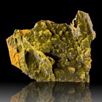 "4.5"" Dark Dark Green Botryoidal MOTTRAMITE Crystal Mounds Ojuela Mexico for sale"