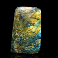 "5.2"" Flickering Flashy Neon Blue+Gold Polished LABRADORITE Madagascar for sale"