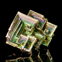 "3.2"" Neon Multi-Colored 3-Dimensional Hoppered BISMUTH Crystals Germany for sale"