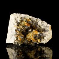 "3.1"" SMOKY QUARTZ Crystals Freckled w-Orange SPESSARTINE GARNETS China for sale"