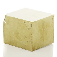 "2.4"" Super Sharp Shiny Metallic Brassy Gold PYRITE CUBE Navajun Spain for sale"