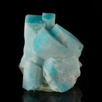 "1.4"" HighSaturation TurquoiseBlue AMAZONITE Crystals SmokyHawk Colorado for sale"