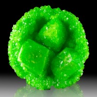 "7.7"" Neon Green BOUSSINGAULTITE Crystals to 3.8"" Inside Geode Germany for sale"