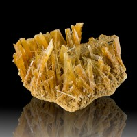 """4.1"""" Intricate Terminated Gemmy SELENITE Crystals Clear Orange Poland for sale"""