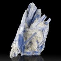 "4.4"" Blueberry BLUE KYANITE Terminated Bladed Crystals in Quartz Brazil for sale"