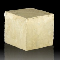 """2.4"""" Near Perfect Brassy Gold PYRITE CUBE Smooth & Mirror Shiny Spain for sale"""