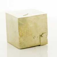 """2.2"""" Brassy Golden PYRITE CUBE Shiny Crystal w-Penetrating Twin Spain for sale"""