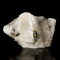 """2.5"""" Brilliant Mirror Silver CARROLITE Sharp Crystals in Calcite Congo for sale"""