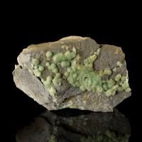 """5.1"""" Dozens of LimeGreen WAVELLITE Crystal Hemispheres onChert Arkansas for sale"""