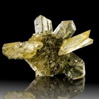 "3.7"" Sword-Tip Golden SELENITE Crystals in Spiky Sphere Winnipeg Canada for sale"