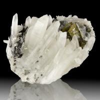 """5.1"""" DarkRed Sprays HUEBNERITE Crystals with TETRAHEDRITE & QUARTZ Peru for sale"""