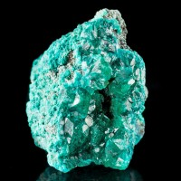 "1.9"" Gemmy Glossy Sharp Color-Drenched Green DIOPTASE Crystals Congo for sale"