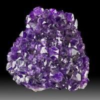 "3.5"" Sparkling Deep Dark Violet Purple AMETHYST Crystal Mound Uruguay for sale"