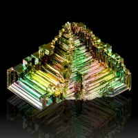 "3.5"" Shiny Neon Colored 3-Dimensional Hoppered BISMUTH Crystals Germany for sale"