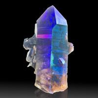 "4.1"" ROYAL AURA QUARTZ Crystals Iridescent Purple-Violet-Blue Arkansas for sale"