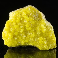 "5.5"" Canary Yellow Native SULFUR Sharp Gem Clear Crystals to 1"" Bolivia for sale"